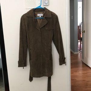 Utility Leather Coat